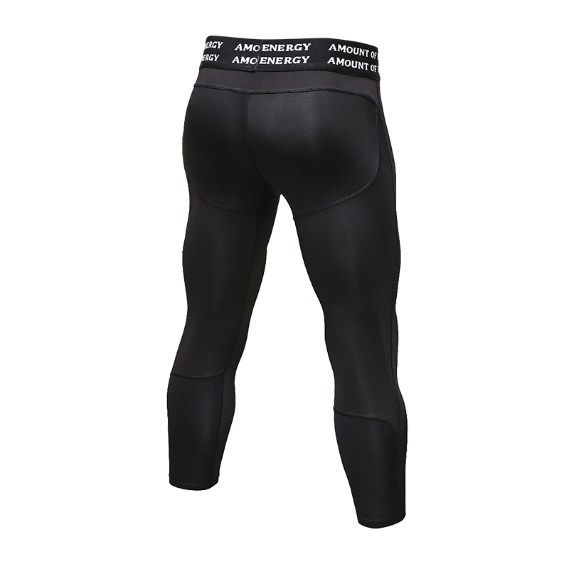 Men Compression Shorts 3//4 Cropped Pants Gym Finess Base Layers Running Leggings