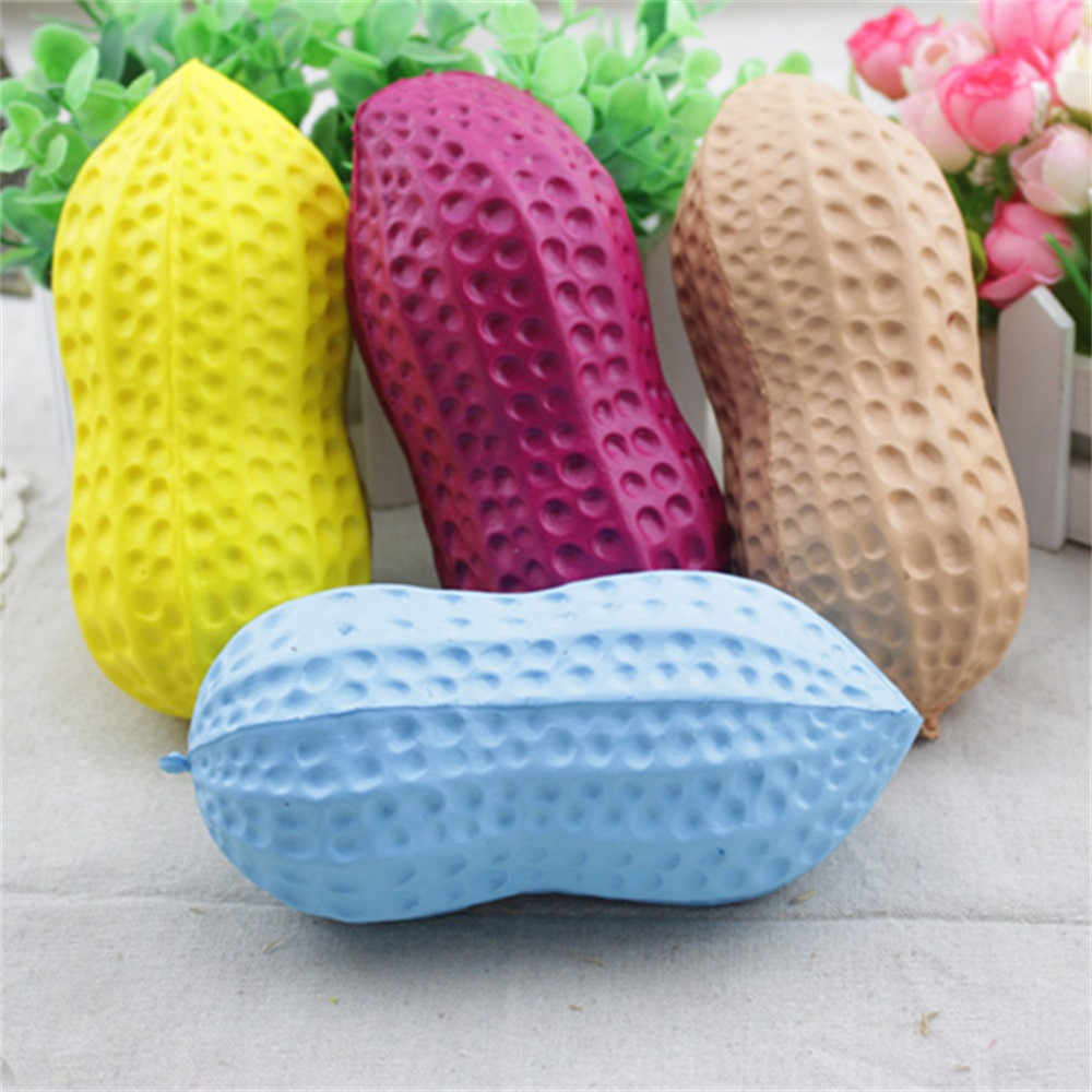 17.5cm Big Peanut Squishy Slow Rising Squeeze Phone Straps Accessories Jumbo Toy Antistress Squeeze Toy For Kids Funny