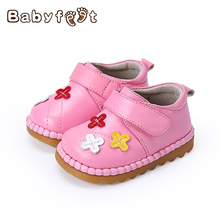 Babyfeet New Spring & Autumn First Walker Baby Shoe Boy Girl Derma Loop Leather Princess Soft Sole Shoes For Babies Kid Gift