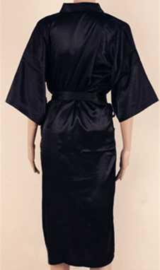 黒メンズローブホット販売フェイクシルク着物浴衣ナイトガウンパジャマ Hombre スパースターサイズ SML XL XXL XXXL ZhM01D