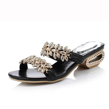 New 2018 women sandals Crystal fashion women beach slippers wedges solid casual sandals for women size 34 – 41