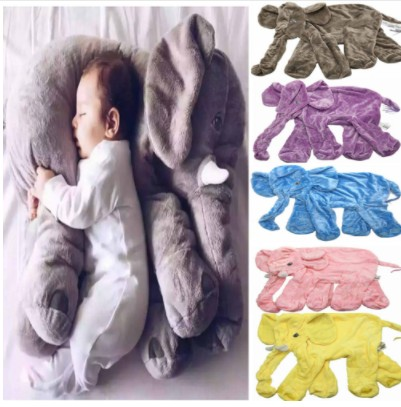 Giant Elephant Skin Plush Toy No PP Cotton Plush Animal Soft Elephant Baby Sleeping Pillow Kids Toys 33/40/60cm Spot Wholesale