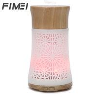 Fimei 120ml Air Humidifier Fogger Wood Aroma Diffuser LED Night Light Air Humidifier Ultrasonic Humidifier Mist