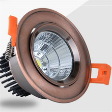 купить Super Bright Dimmable LED Downlight COB 5W 7W 9W 12W 15W 20W 30W LED Ceiling Recessed Led Spot Light Indoor down lamp Lighting онлайн