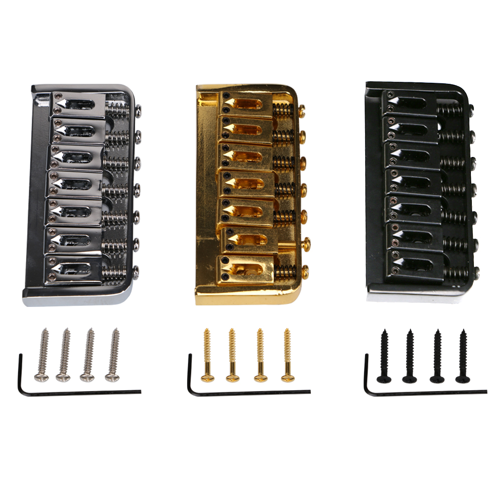 7 string Bridge Saddle Strings Guitar Bridge Adjustable With Screws+Wrench Guitar Parts Accessories new style 6 string saddle headless guitar bridge tailpiece with worm involved string device