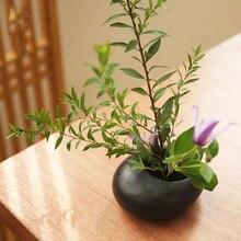 Vase-Device Flower-Pot Tea-Table Ikebana Japanese Ceramic-Tools Small Zen Desktop Water-Drop