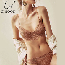 CINOON New Womens underwear Set Sexy Push-up Bra And Panty Sets Hollow Brassiere Gather Embroidery Lace Lingerie
