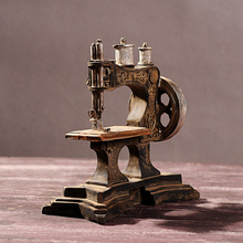 Creative Gift Resin sewing Machine Mdoel Do the old Retro Home Bar Ornaments Crafts
