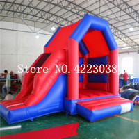 Free Shipping Games trampoline For Children Inflatable Trampoline Bouncy Castle Outdoors Games Toy Inflatable Slide With Blower
