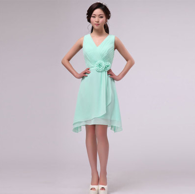 chiffon maxi bridesmaid 12 size girls mint short dress short brides ...
