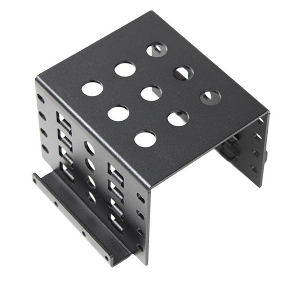 Купить с кэшбэком Anodized Aluminum 4 Bay 2.5 in SATA HDD SSD to 3.5 in Bracket Adapter,2.5 in to Floppy Hard Drive Disk Mounting Converter Kit