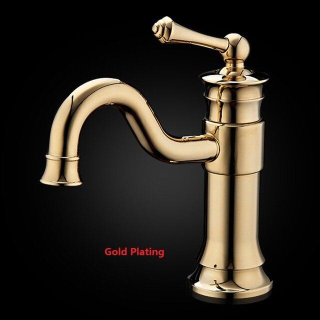 Sale Promotion Vintage 3 color Brass Basin Faucet Cold&Hot Basin ...
