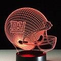 Visual 3D Luz de La Noche de la NFL New York Giants Casco de Fútbol Americano LED Lámpara de Mesa de Acrílico Plana Lamparas Marvel Veilleuse Para Ventiladores regalos