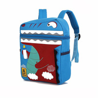 HOT SALE Cartoon Crocodile Canvas Backpack Animal Design Backpack Kids School Bags For Girls Boys 073