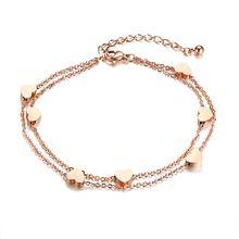 Модные браслеты в форме сердца для женщин очаровательный браслет