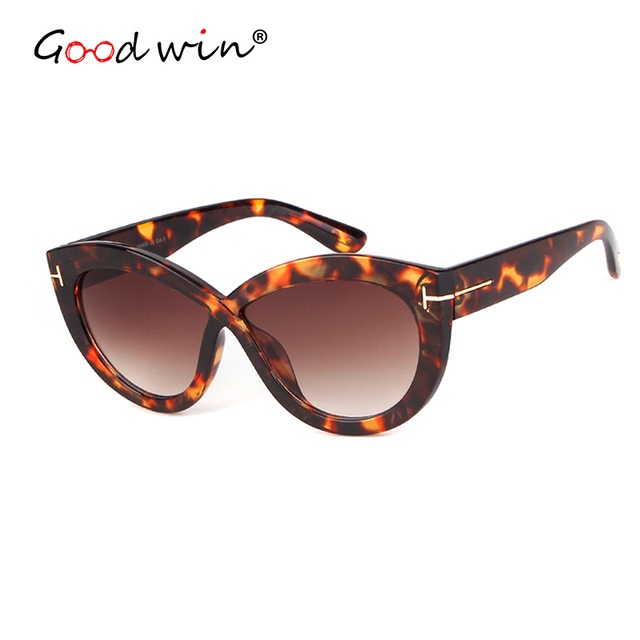 1ee0283d256 Good Win Luxury Brand Tom Style Women Cat Eye Sunglasses Leopard Sexy Frame Female  Sun Glasses Cateye Shades For UV400 gafas