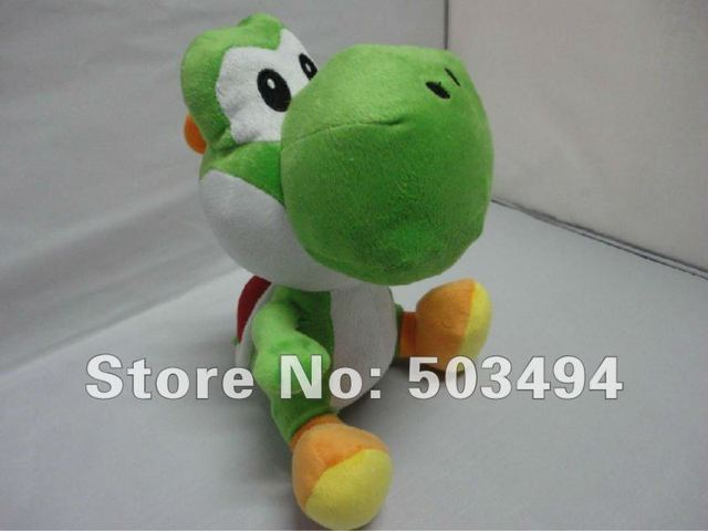 Free shipping Retail 1PCS Super Mario bros Green Yoshi plush doll toys 11 inches