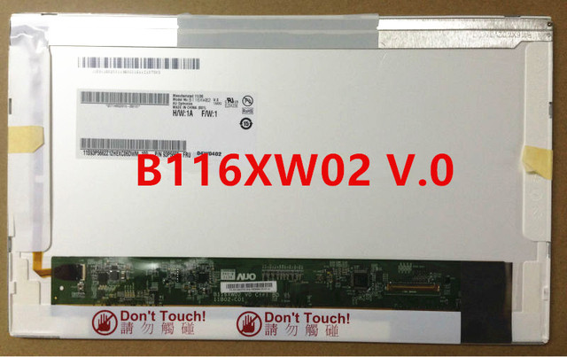 Free Shipping B116XW02 V.0 V.1 LTN116AT03 LTN116AT01 LP116WH1-TLA1 CLAA116WA0A LP116WH1-TL N1/P1/B1/A1 N116B6-L02/L01 Panel