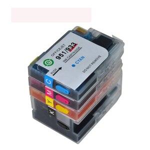 Image 2 - Dat cartouches dencre de recharge complète avec puce HP 932 XL et 933, pour Hp6100, 6600, 6700, 7110, 7612, 7610
