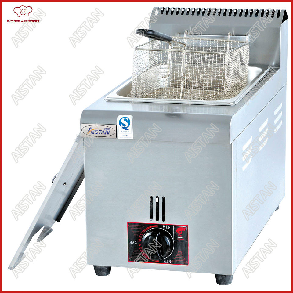 GF71/72 commercial counter top stainless steel electric large capacity chicken lpg gas fryer machine with baskets цена и фото