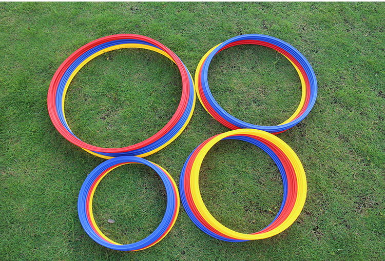 <font><b>40</b></font> <font><b>50</b></font> <font><b>60</b></font> 70cm Soccer Speed Agility Rings ABS Material Sensitive Football Training Equipment Pace Lap Football Ball Training image