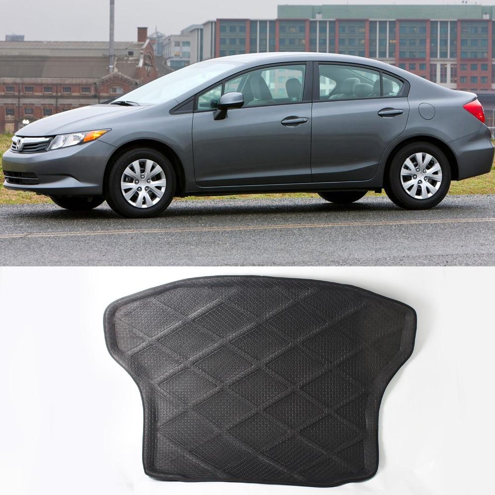 3d black rear trunk cargo mat boot liner suitable rubber floor protector trunk tray mat anti slip for honda civic 2006 2011