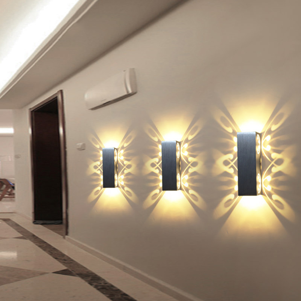2W 6W Led Wall Lamp Sconce Lights Double Batteryfly Aluminum Fixture Up And Down Modern AC85-265V For Home Hotel KTV Bar IQ