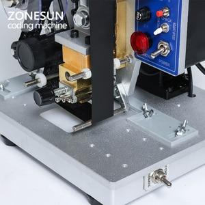 Image 5 - ZONESUN Semi automatic Hot Stamp Coding Machine Ribbon Date Character, Hot Code Printer HP 241 Ribbon Date Coding Machine