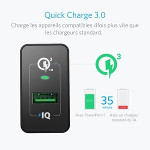 Image 3 - Quick Charge 3.0, Anker 18W USB Wall Charger UK/EU Plug (Quick Charge 2.0 Compatible) PowerPort+ 1 for iPhone iPad LG HTC etc