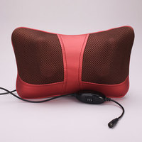 Rotation Infrafed Heating Massage Pillow 3d Kneading Masssage Head Cushion Electric Neck Shiatsu Shoulder Back Massage Car Home