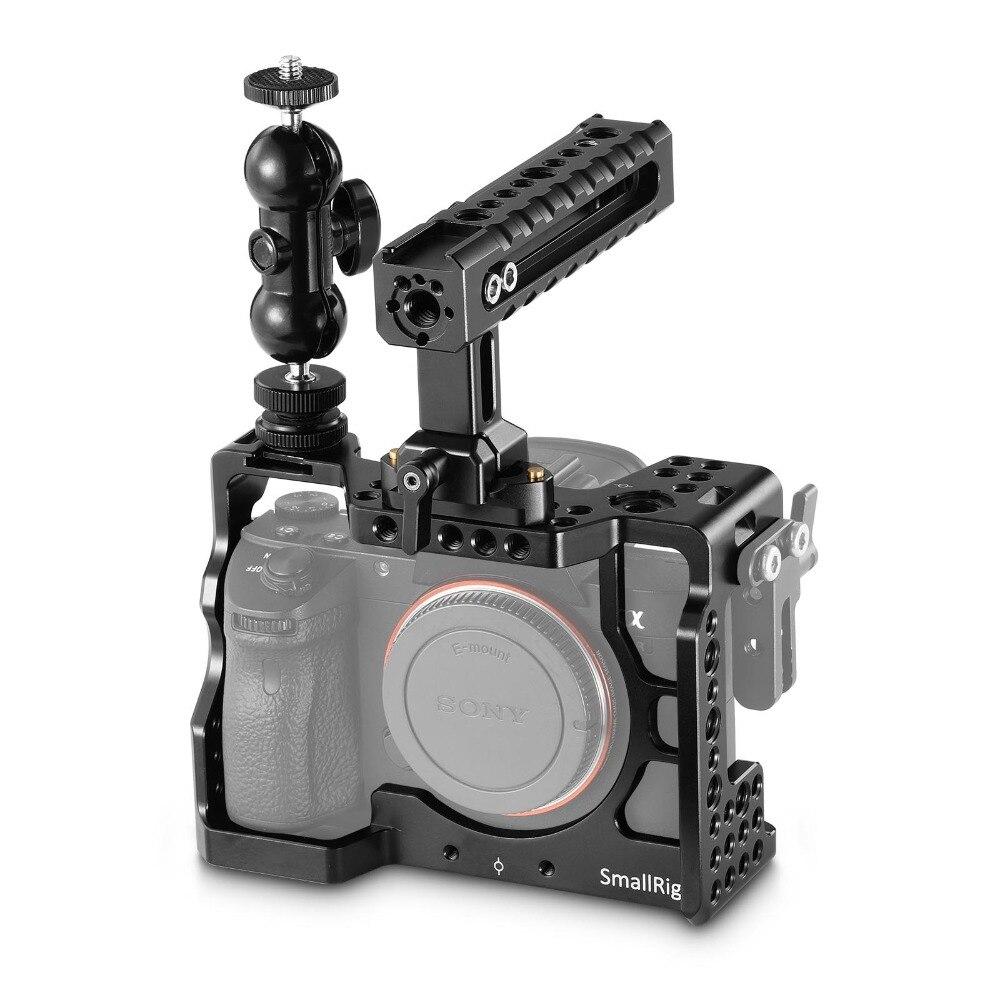 SmallRig A7M3 Caméra Cage Kit pour Sony A7RIII/A7III Avec Caméra Poignée Grip Joby Clamp Mise À Niveau Version A7 III caméra Cage
