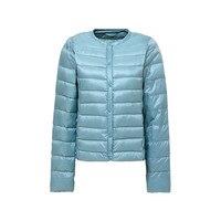 2018 winter jacket women duck down coat o neck long sleeve spring autumn femme thin outwear short coats female girl overcoats
