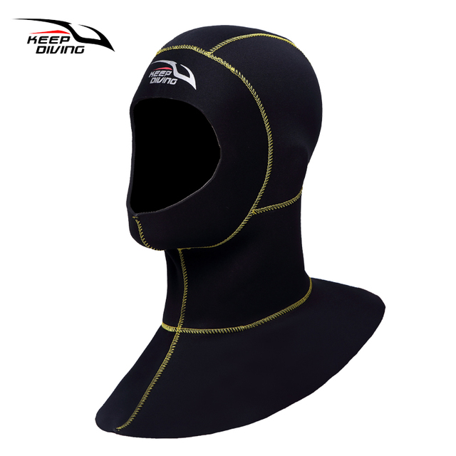 KEEP DIVING Scuba Diving Hood 3mm Neoprene Hoods Dive Sporting Men Waterproof Keep Warming Hat Wetsuit Cap
