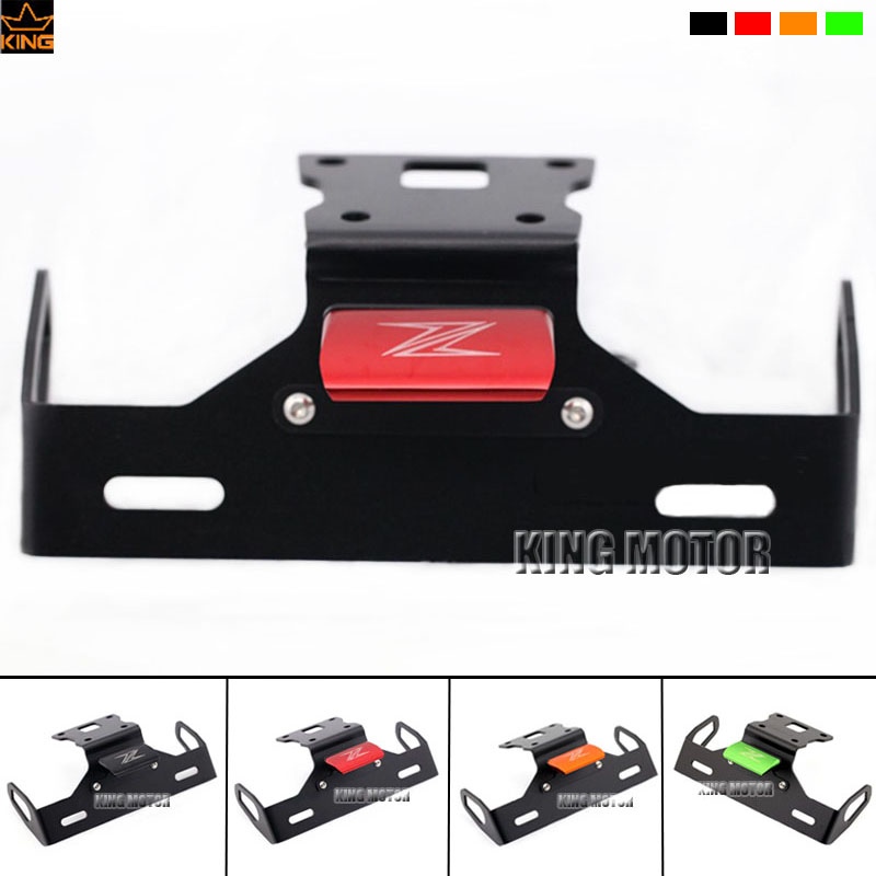 For KAWASAKI Z125 Motorcycle Accessories Tail Tidy Fender Eliminator Registration License Plate Holder Bracket LED Light Red motorcycle tail tidy fender eliminator registration license plate holder bracket led light for ducati panigale 899 free shipping