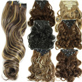 Curly Hair Weave Synthetic Clip In Hair Extension Heat Resistant Hairpiece Curly Wavy Hair Extensions De Pelo Natural Hair