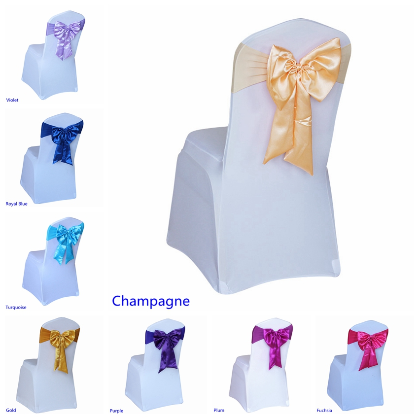 20 Colours Spandex Chair Sashes Wedding Chair Sashes Lycra Stretch Band Bow Tie Hotel Party Show Decoration On Sale Universal