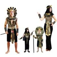 Egypt Princess Costumes 2016 New Egyptian Pharaoh Cosplay Masquerade Halloween Adult Childen Kid Girl Costume Cleopatra