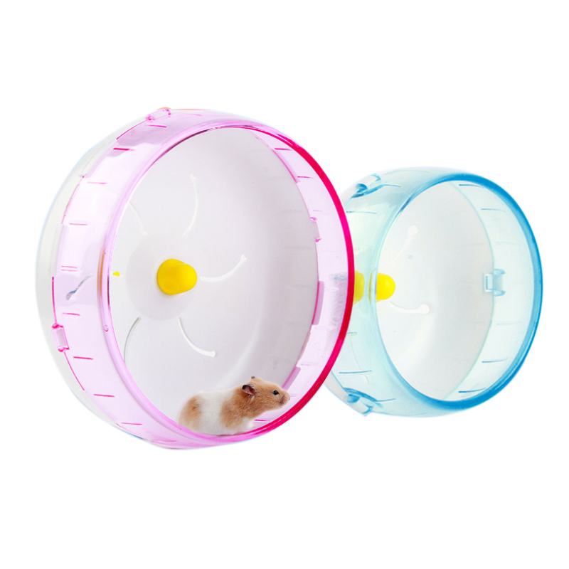 Hamster Running Disc Toy  Silent Rotatory Jogging Wheel Pet Sports Wheel Toys E2S