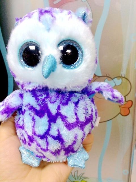 Ty Beanie Boos Blue Owl Plush Toy Doll Baby Girl Birthday Gift 15cm