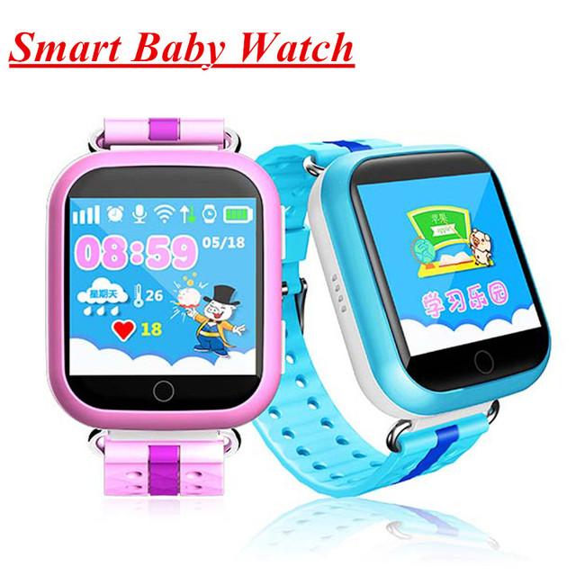 Q100 GPS Inteligente telefone do Relógio Do Bebê Crianças Watchs Inteligente GPS localização Wifi Tela Sensível Ao Toque de Chamada SOS Anti-Lost Dispositivo Rastreador crianças Q90 +