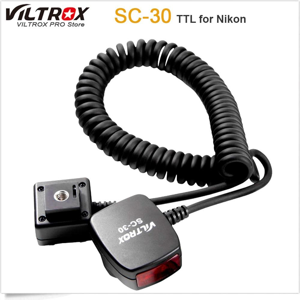 Viltrox SC-30 TTL Sync Cords Flash Light off-camera Focus Assist Cable for Nikon DSLR Flash 2m i ttl flash off camera cord cable for nikon dslr