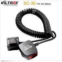 Viltrox SC-30 TTL-вспышка с синхронизацией от камеры Фокус вспомогательный кабель для цифровых зеркальных фотокамер Nikon Flash