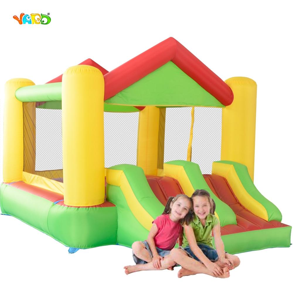 Inflatable Bouncer Giant Air Jumper with Blower Dual Slide Jumping Castle Combo Inflatable Toy jumping inflatable castle bouncy castle jumper bouncer castle inflatable bouncer with slide