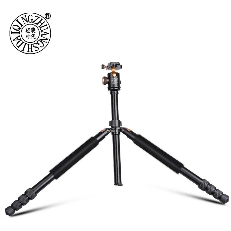 Q968 Алюминий путешествия штатив для цифровой фотокамеры 1670 мм видео и DSLR фотографии штатив монопод 15 кг подшипник камеры аксессуар