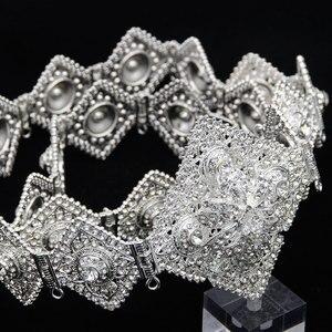 Image 5 - Sunspicems Luxus Marokkanischen Kaftan Gürtel für Frauen Volle Strass Taille Kette Metall Einstellbare Länge DUBAI Hochzeit Schmuck 2020