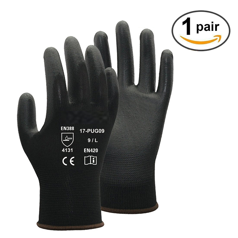 Polyester PU Coating Comfortable Non-Slip Wear-Resistant Labor Protection Work Gloves Practical Security Labor-only child labor