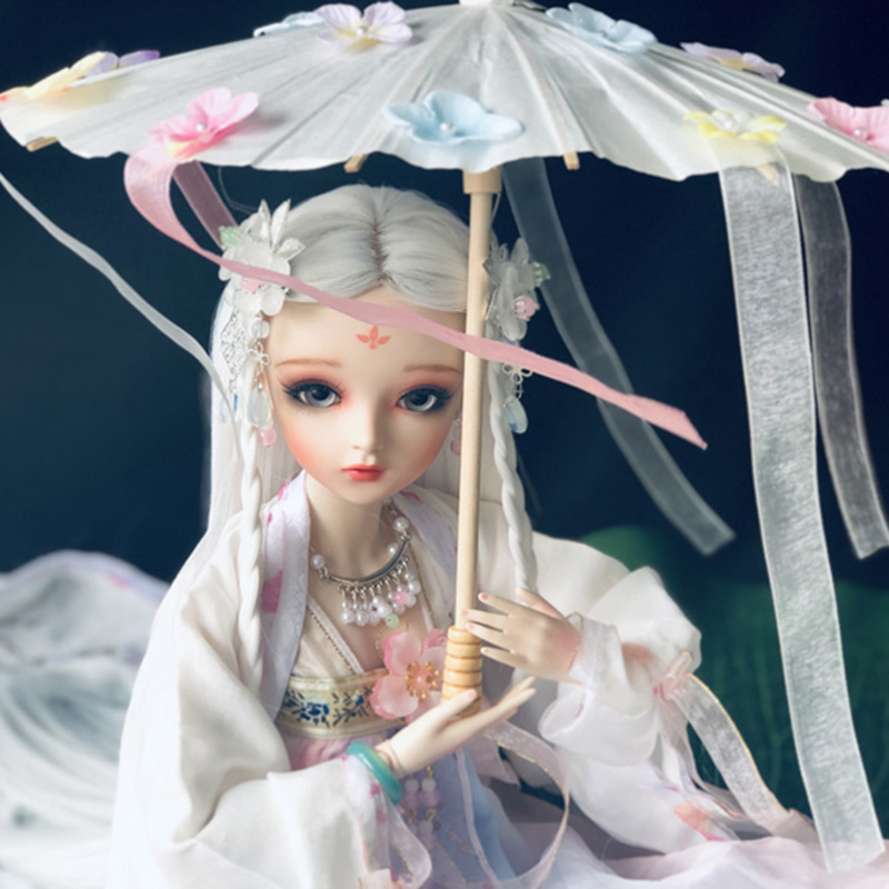 <font><b>BJD</b></font> 60CM Classical Beauty Doll With Han Chinese <font><b>Clothing</b></font> <font><b>BJD</b></font> Doll With Make Up Handmade Beautiful Girl Toys Gift image