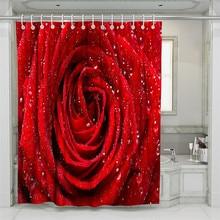 цена на 3D Rose Forest Beach Shower Curtain Bathroom Waterproof Polyester Printing Curtains for Bathroom Shower
