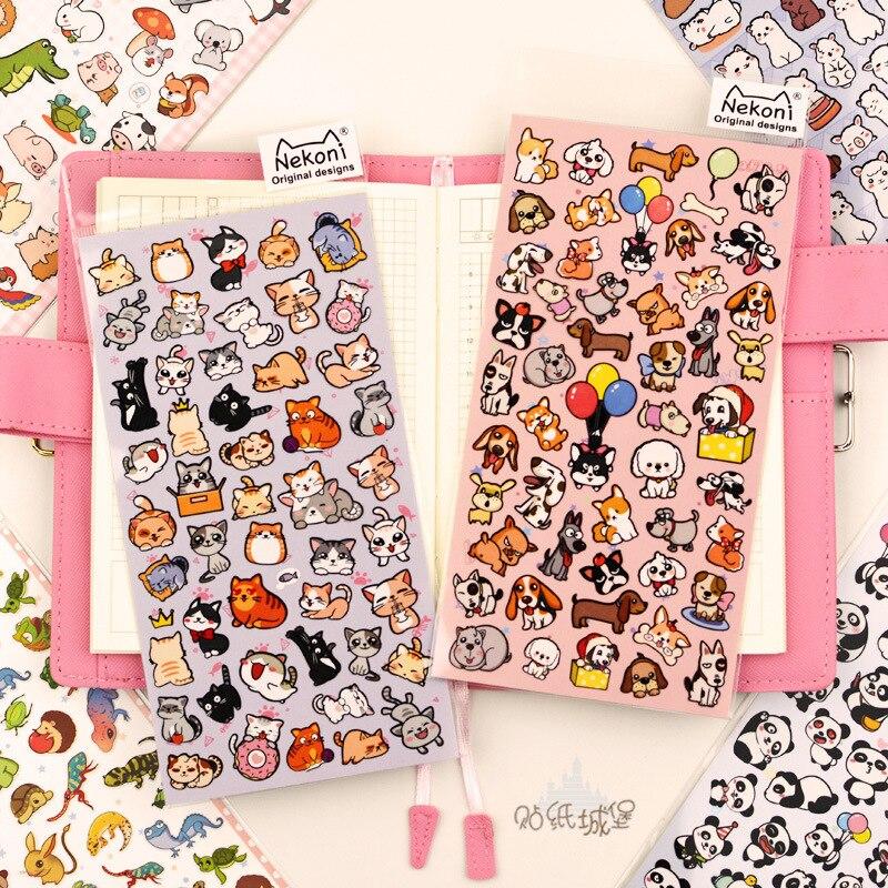 Nekoni Panda Shiba Alpaca Animals Bullet Journal Decorative Stationery Stickers Scrapbooking DIY Diary Album Stick