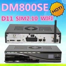 Dm800hd se wifi D11 Versión dm 800se sim2.10 dvb-s del sintonizador HD receptor de satélite Enigma 2 Linux OS sunray dm800se 800hd 2 unids